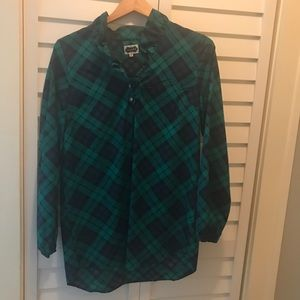 Mud Pie plaid ruffle tunic, size M